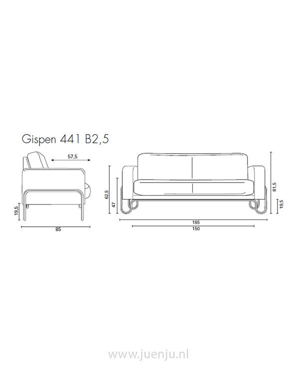 Gispen 441 B2,5 bank